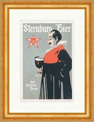 Kunstdruck Sternburg Bier Bergmüller Brauerei Leipzig Plakatwelt 192 Gerahmt