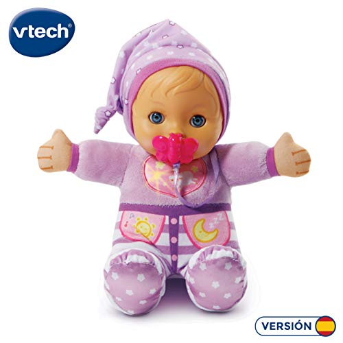 VTech-80-196622 Suave muñeca interactiva para abrazar al dormir. (3480-196622) , color/modelo surtido