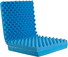 Egg Crate Sculpted Foam Seat Cushion with Full Back, Blue