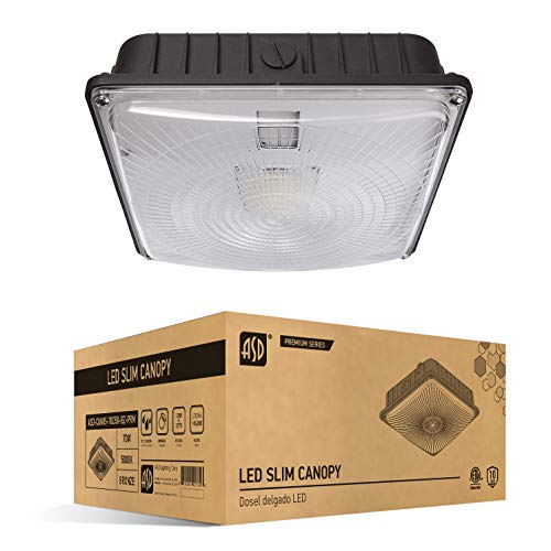 ASD LED Canopy Light, 70W, Dimmable, 8400lm, 5000K, 120-277AC, 9.6