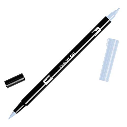 Tombow Dual Brush Pen Art Marker, N95 - Cool Gray 1, 1-Pack