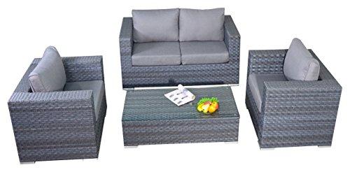 Puerto Royal Platinum Juego de tamaño pequeño sofá, Color Gris