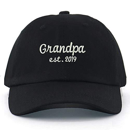 OEWFM Baseballmütze Mode Opa Est.Hut Buchstaben Stickerei Baseball Cap Tisch Hüte Hip Hop Caps Unisex