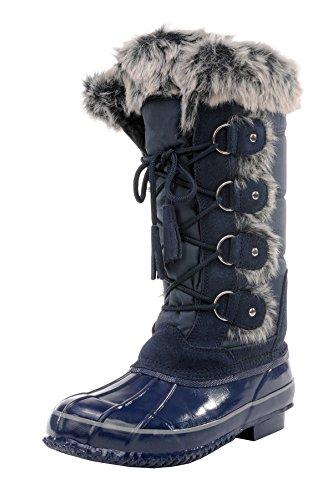 sporto Women's Sleigh Ride Snow Boot (9 B(M) US, Navy)