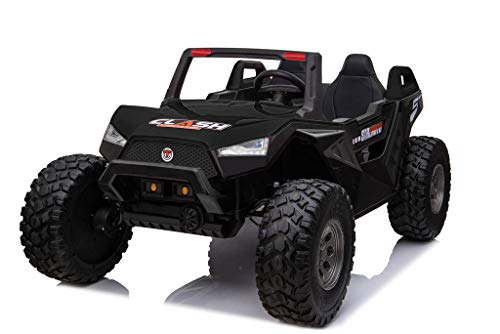 UTV Black Adjustable SEAT 4X4 Sport Edition 2 Seater 24VOLTS Buggy/UTV Style Kids Electric Ride On Car with RC - Power Wheel TV Screen Ride ON UTV Buggy 24v Kids Ride On Car with Remote Control RZR