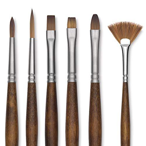 Raffaello–Pennello precisione piatto olio e acrilico n. 36–Martora imitazione Sabbia