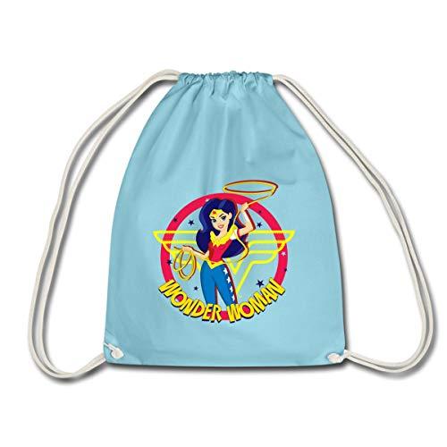 Spreadshirt DC Super Hero Girls Wonder Woman Lasso Magique Sac À Dos Cordon, aqua