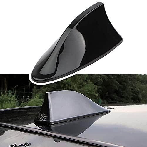 Folconroad Señal de radio universal para coche diseño de aleta de tiburón Coche techo superior AM/FM Radio tiburón antena(Negro)