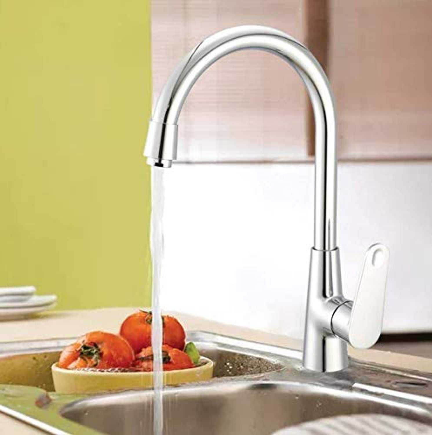 Oudan Taps Basin Faucet New Zinc Alloy Single Handle Single Hole High Body Faucet Hot And Cold Kitchen Faucet Taps (color   -, Size   -)
