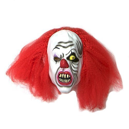 The Rubber Plantation TM Clown Tueur Masque Halloween Déguisement Masque Latex Pennywise Style It Déguisement