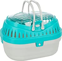 Transport box for small animal Made from plastic material Ventilation slits for optimal air circulation Comfortable to carry with 2 handles Opened at the top