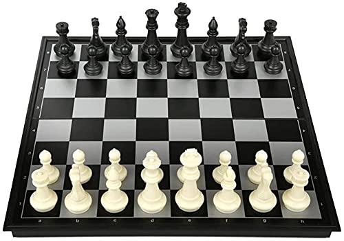 PATAWFFF Ajedrez Juego de ajedrez juego de ajedrez plegable juego con piezas de ajedrez con tablero de ajedrez con juego de ajedrez magnético Juego Regalos Ajedrez (Color: Oro Plata, Tamaño: Extra Gra