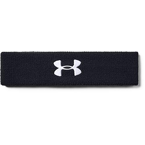 Under Armour mens Performance Headband Black (001)/White One Size Fits All