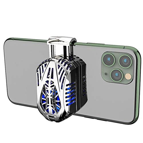 COMY Handy-Kühler, Um Zu Verhindern Handy Heiß Wird, Mini-Tragbarer Halbleiter-Kühler Mit Aktiver Kühlung Handy-Kühler, Extrem Geräuscharm, Kompatibel Mit 4-6,5-Zoll-Handys,Silber