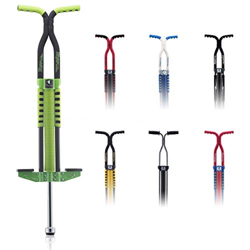 Flybar Master Pogo Stick for Kids Boys & Girls Ages 9 & Up, 80 to 160 Lbs - Fun Quality Pogo Stick by The Original Pogo Stick (Green)