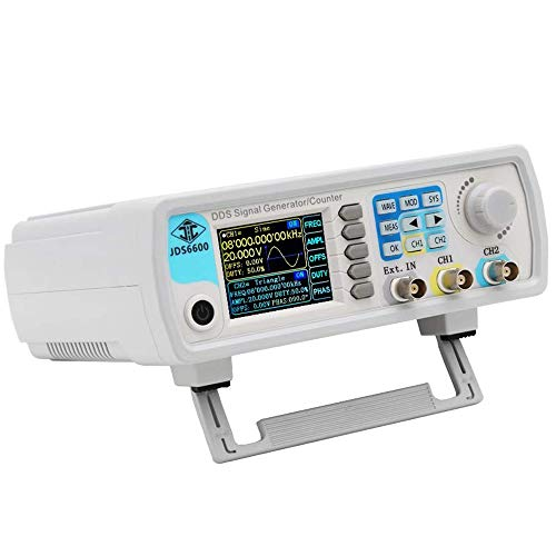 ICQUANZX Upgraded 15MHz DDS Signal Generator Counter,High Precision Dual-Channel Arbitrary Waveform Function Generator Frequency Meter 200MSa/s (15MHz)