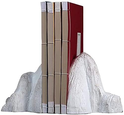 Sujetalibros personalizado Libro Termina Forma de Montaña Libreas Resina Resina Finaliza FERMATIVO METRANDO DE DISTRIBUIDO Decorativo para el dormitorio Oficina Escuela Libro Displazamiento Escritorio