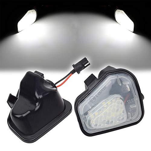 ZFDM 2pcs 6000k LED Blanco bajo Espejo Lateral Lámparas de Charco Ligero para VW CC Passat B7 3C Beetle Scirocco 137 EOS 1F Jetta Super Bright (Color Temperature : 6000K, Emitting Color : White)