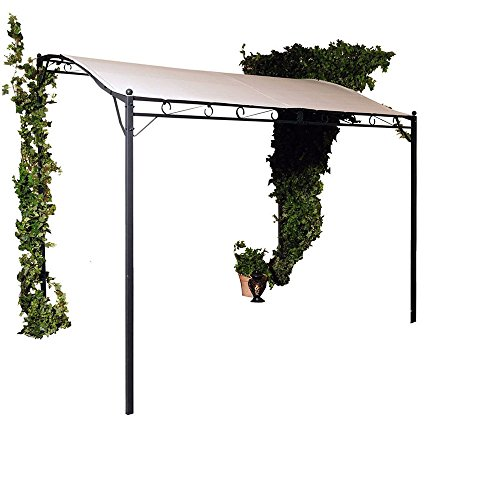 SSITG Wand-Pavillon Wave Beige Unterstand Sonnenschutz Wandmarkise Gartenmöbel