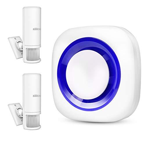 Timbre de Puerta Inalambrico Sistema de Alarma de Timbre Seguridad de Casa,Detectores de Sensor de Movimiento inalámbrico Alerta para el Hogar, Tienda, Garaje, Buzón