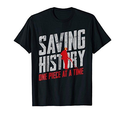 Metal Detector Saving History Shirt Boys Girls Novelty Shops