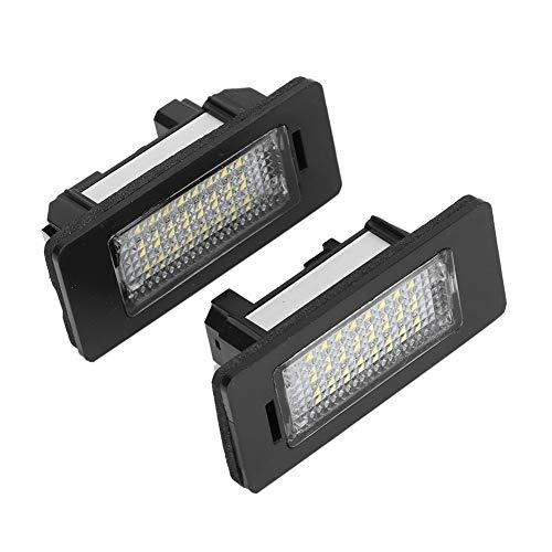 Qiilu Luz de la matrícula del automóvil, luz de la placa de matrícula LED Apto para la serie 1 E82/E88 Serie 3 E90/E91/E92/E93 Serie 5 E39/E60/E61 Serie X E70/E71