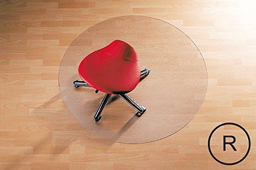 Transparente Bodenschutzmatte, Form Rund - 120 cm Durchmesser, aus Makrolon®, Schutzmatte für Parkett-, Laminat- & PVC-Böden, 17 weitere Größen wählbar