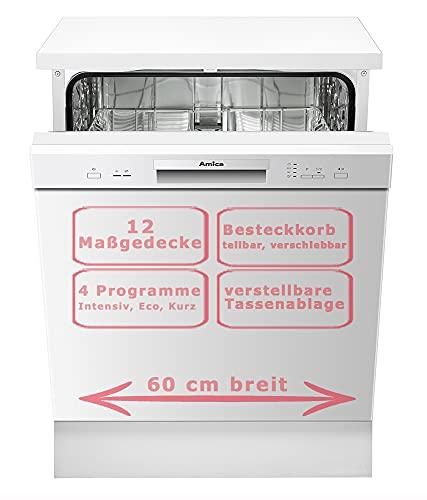 Amica GSP 14745 W Spülmaschine, freistehend, 12 Gedecke, A++, Weiß, Gesamtgröße 60 cm, 1,5 m, 1,5 m