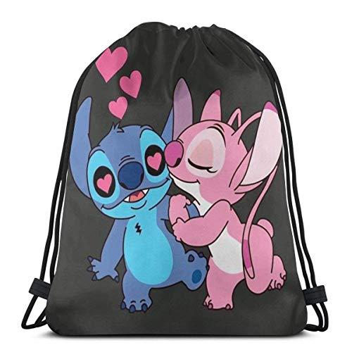 Etryrt Mochila de Cuerda Bolsas de Gimnasia Lovely Stitch Gym Backpack Shoulder Bags Sport Storage Bag For Man Women