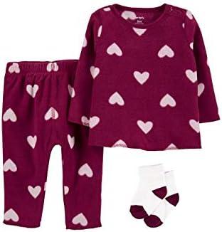 Carter's Toddler Baby Girls Swimwear Set (Heart Purple, 18m)