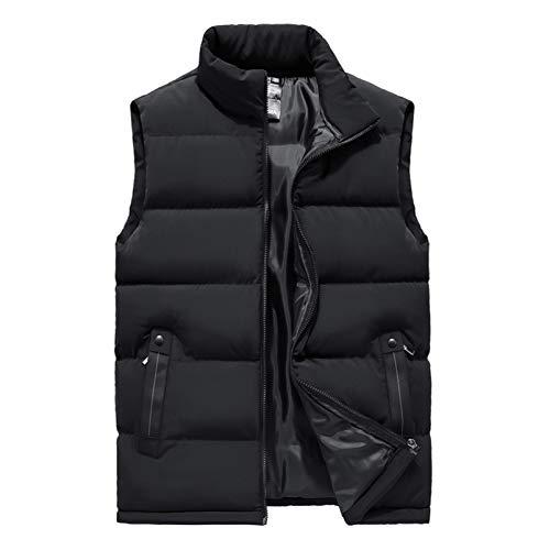 Chaleco de plumón para hombre, chaleco de plumón rellenable para hombre, chaleco acolchado de algodón para deportes de invierno/viajes/informales
