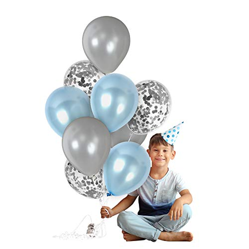 light blue baby decorations - 3