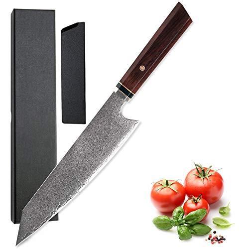 13.6 pulgadas Damasco Cuchillo de cocina VG10 Japonés Acero inoxidable Kiritsuke Cocina Chef Chep Chepy Mangle Con Caja de Regalo (Color : Kitchen Knife)