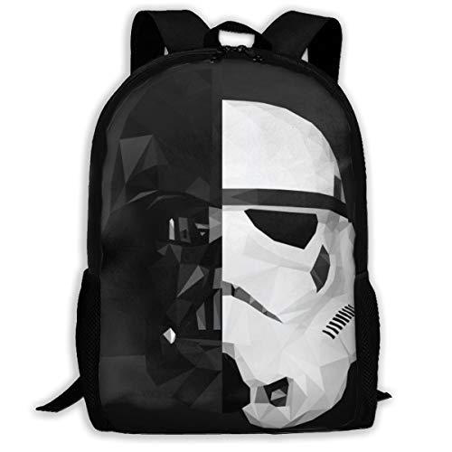 Darth Vader Stormtrooper Star War Adult Travel Backpack Fits 15.6 Inch Laptop Backpacks School College Bag Casual Rucksack for Men & Women