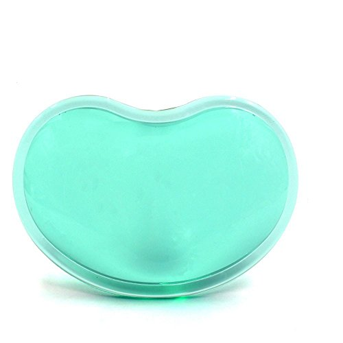 RingRingshop Translucence Silicone Gel Wrist Rest Heart-Shaped Soft Gaming Mouse Pad Wrist Support Hand Pillow for Notebook/Desktop, Suit for Offices, Home (Green)