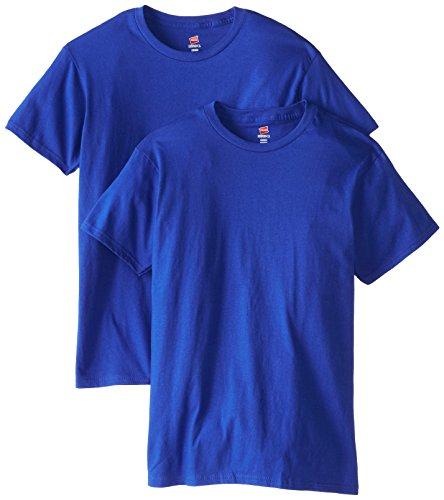 Hanes Men's Nano Premium Cotton T-Shirt (Pack of 2), Deep Royal, X-Large