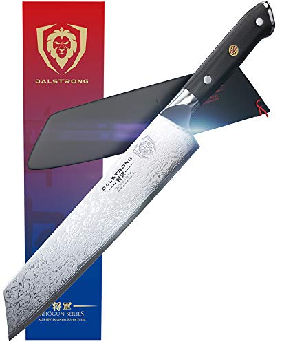 DALSTRONG Kiritsuke Chef Knife - Shogun Series - Damascus - Japanese AUS-10V Super Steel - 8.5' (216 mm) - Sheath