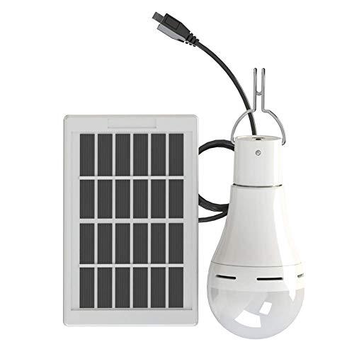 xiegons3 USA Energía Solar LED Bombilla, Portátil Luz Exterior Panel Solar Potencia Recargable Luces para Pesca Senderismo Tienda de Campaña Noche Trabajo - 7w, Solo Interruptor, Free Size