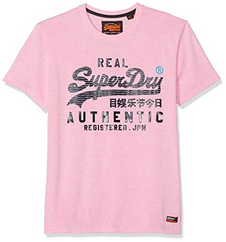 Superdry Vintage Authentic tee Camiseta, Rosa (Pastel Pink Marl Mrq), Large para Hombre