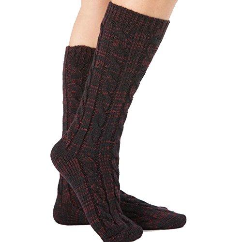 Women's Fuzzy Slipper Sock Ladies Warm Funny Cable Knit Socks Leg Warmers Thanksgiving Christmas Gift