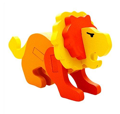 Blancho Jigsaw Puzzle 3D Puzzle Animal Lion Enfants Lot de 2