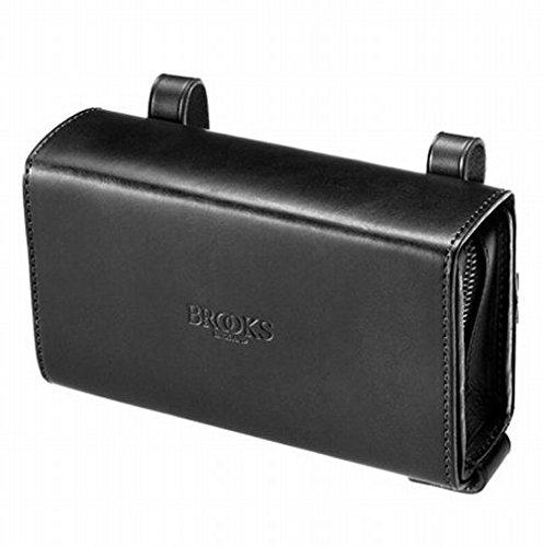 BROOKS(ブルックス) ユニークなスライド式レザー製サドルバッグ BROOKS D-SHAPED BLACK 【日本正規品/2年間保証】