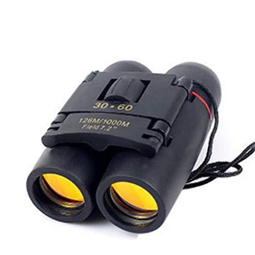 Binoculares impermeables compactos De alta potencia de alta definición noche bajo la luz de la visión del telescopio 30X60 prismáticos para la observación de aves recorrido de la caza Juegos de Fútbol