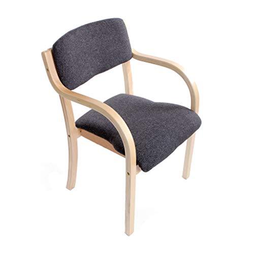 Chaise de salle à manger en bois massif Chaise en bois européen Accueil Balcon Bureau Fauteuil Café Siège de l'hôtel/Linge de café - Paquet de 1