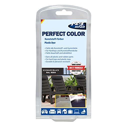 Perfect-Color Kunststoff Aufbereitung - Polyrattan Gartenmöbel Camping Schwarz mit Schwamm