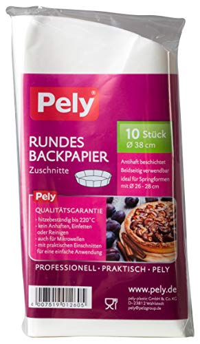 pely Rundes Backpapier (1 x 10 Stück)