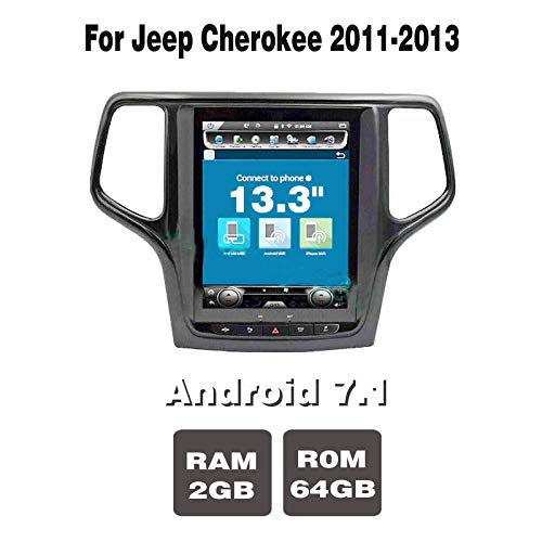 Buy Discount 13.3 Android 7.1 (2+64) G Car Radio GPS Navigation DVD Player for Jeep Cherokee 2011-2...