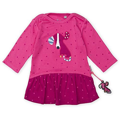 Sigikid Baby - Mädchen Langarm-Kleid Kleid,, per pack Rosa (shocking pink 682), 74 (Herstellergröße: 74)