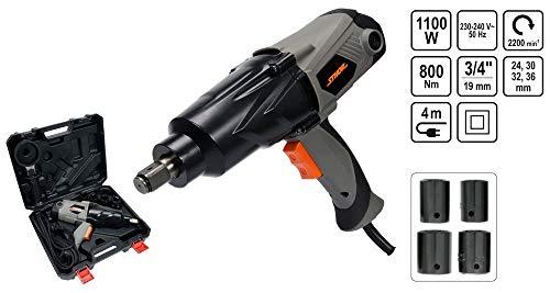 STHOR - Atornillador de impacto eléctrico (1000 W, 800 Nm, incluye 4...