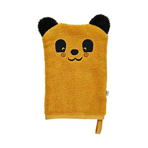 Pippi Unisex-Baby Organic wash Cloth Swimwear Cover Up, Mineral Yellow, 14x21